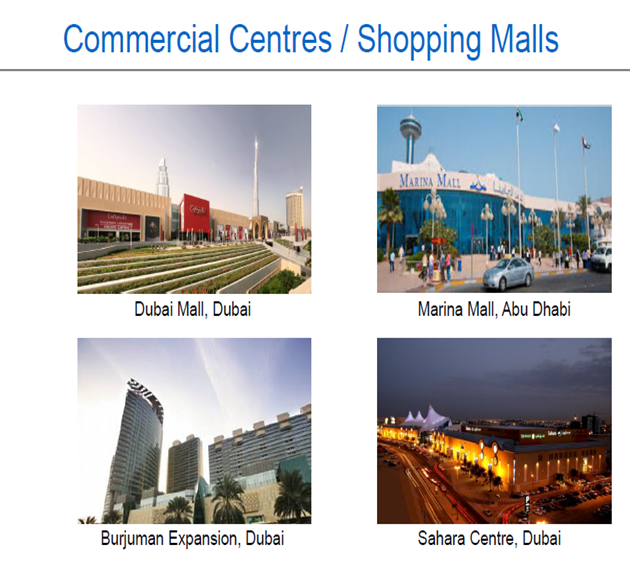 COMMERCIAL CETERS /SHOPPING MALLS.
